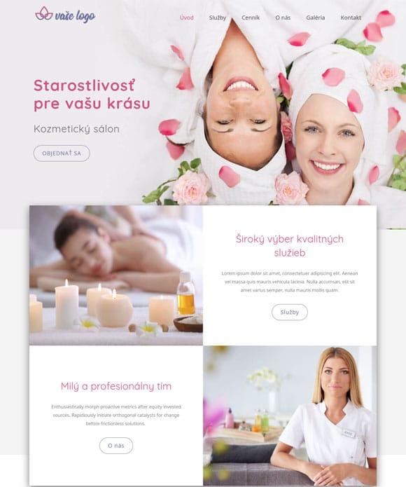 dizajn kozmetický salón web stránka