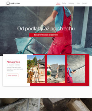 dizajn rekonštrukcie web stránka