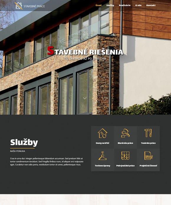dizajn stavebné práce web stránka