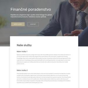 dizajn web stránka finančné poradenstvo