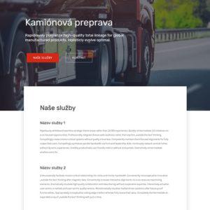 dizajn web stránka kamiónová preprava