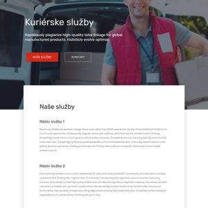 dizajn web stránka kuriérske služby