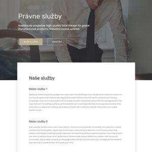 dizajn web stránka právne služby