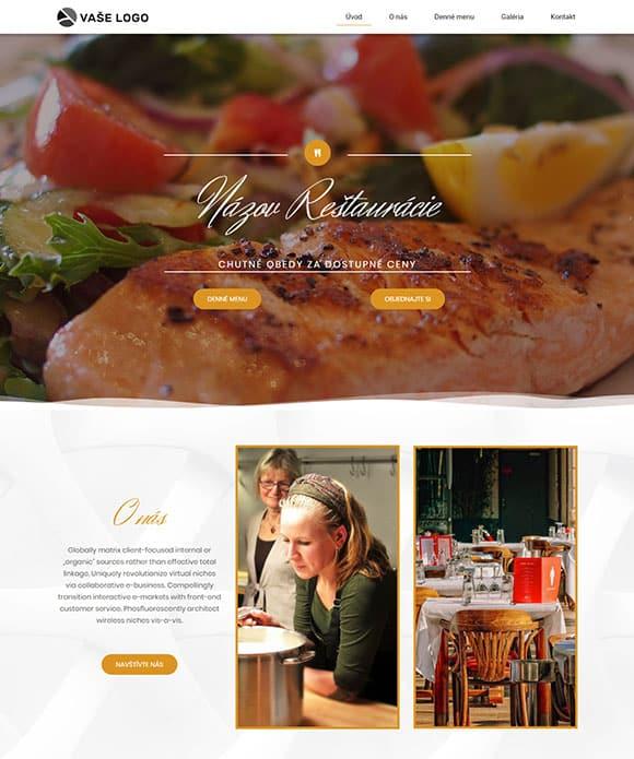 dizajn web stránka reštaurácie