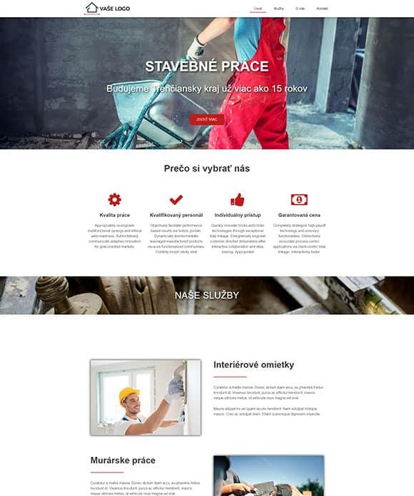 dizajn web stránka stavebné práce