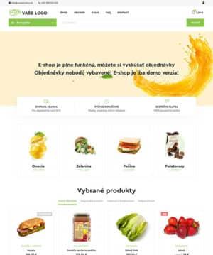 E-shop s potravinami