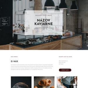dizajn web stránka kaviareň