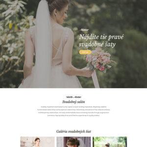 dizajn web stránka svadobný salón