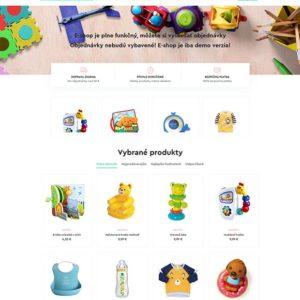dizajn e-shop detský obchod