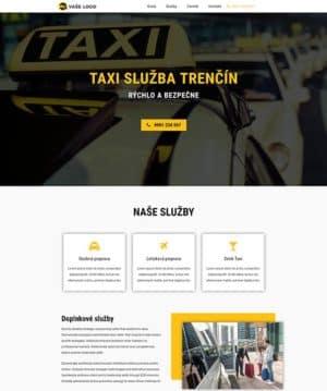 dizajn web stránka taxi služba