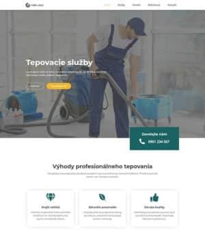 dizajn web stránka tepovacie služby