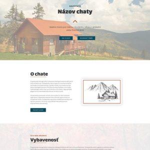dizajn web stránka ubytovanie