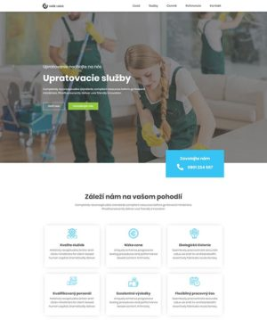 dizajn web stránka upratovacie služby