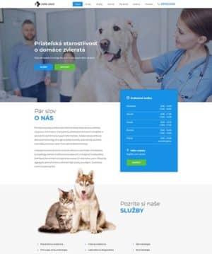 dizajn web stránka veterinárna ambulancia