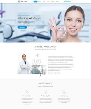 dizajn web stránka zubná ambulancia pro