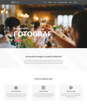 dizajn web stránka fotograf pro