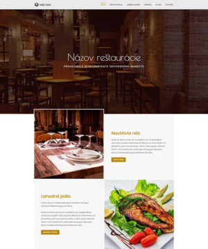 dizajn web stránka reštaurácia pro