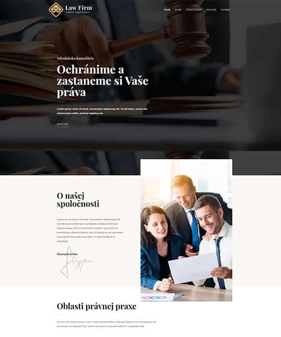 web stránka právnik