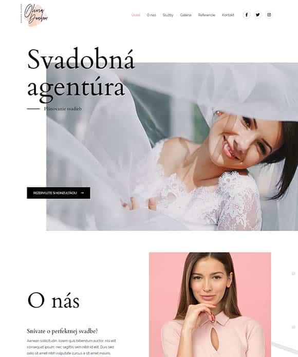 web stránka svadobná agentúra