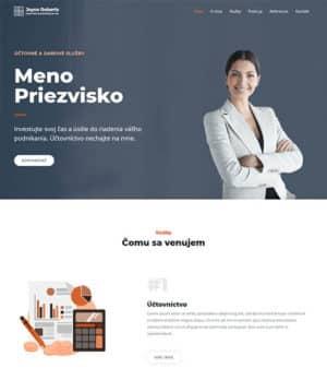 web stránka účtovná kancelária