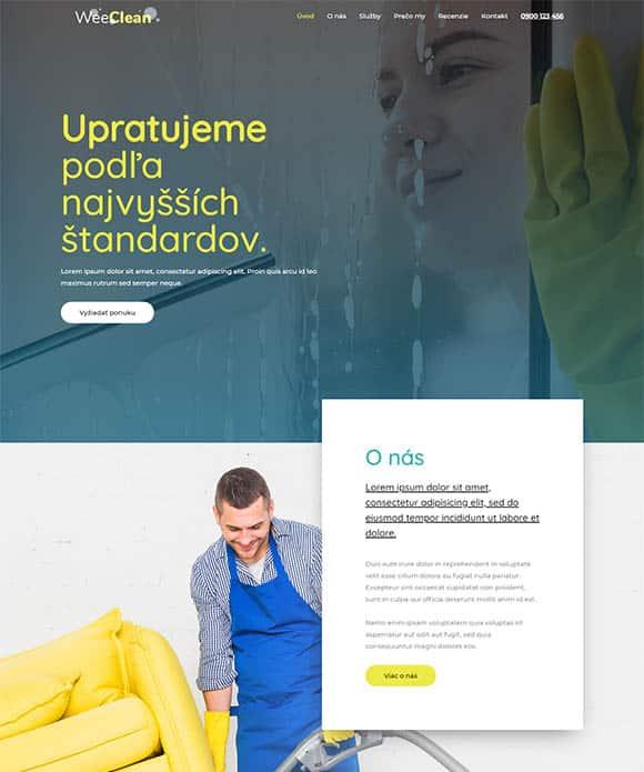 web stránka upratovanie