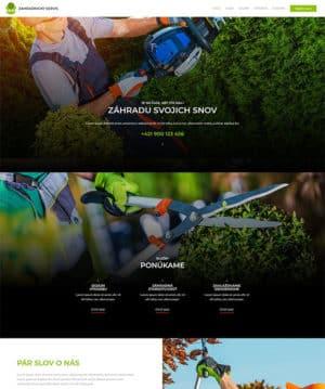 web stránka záhradnícky servis