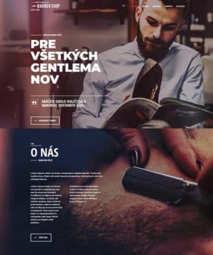 Tvorba web stránok barber shop