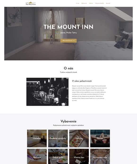 Tvorba web stránok - hotel