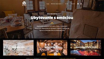 Tvorba web stránok - Ada resorts referencia
