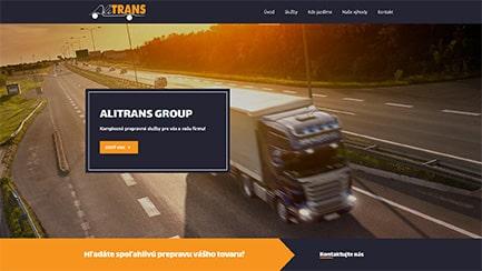 Tvorba web stránok - alitrans group referencia